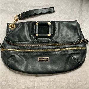 Jimmy Choo Clutch black leather/suede - mave?